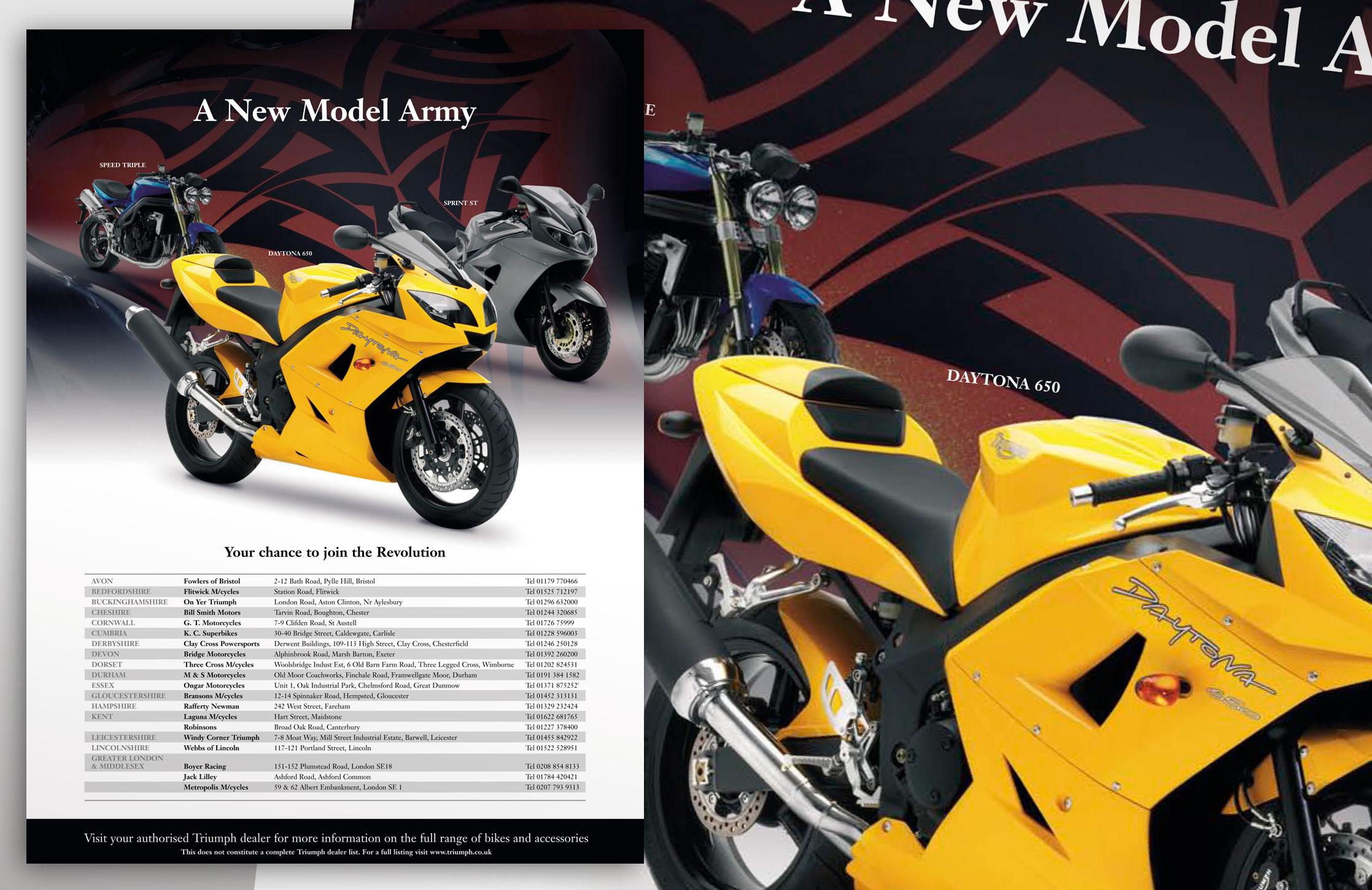 Triumph Advert for MCN