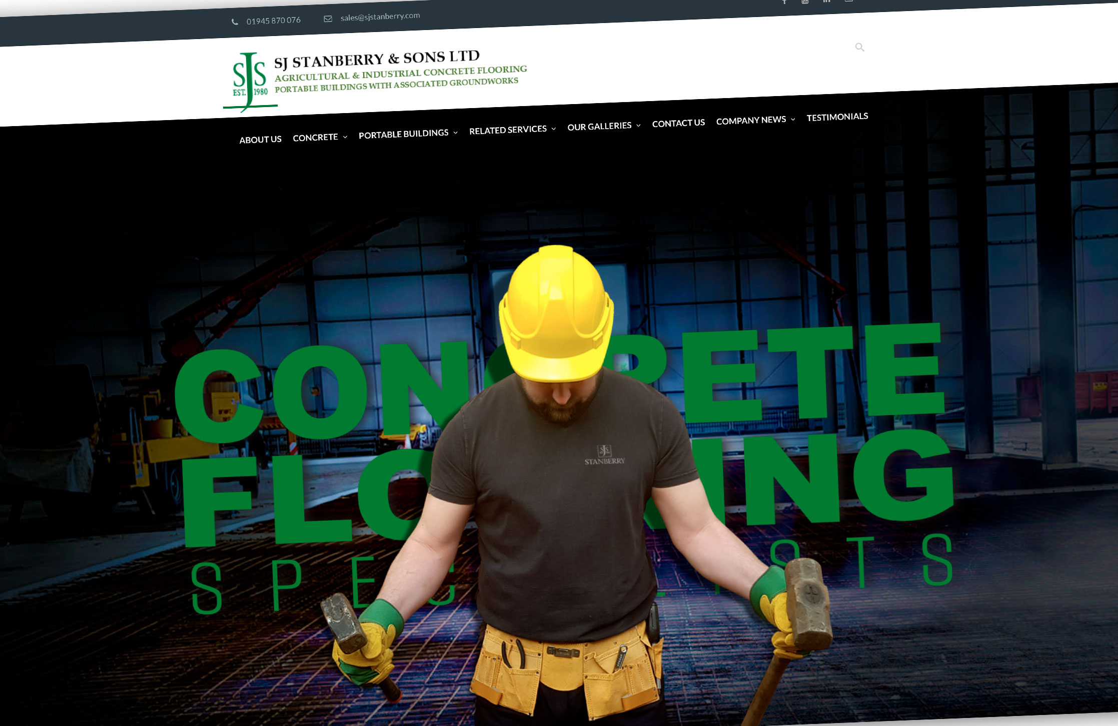 SJ Stanberry concrete flooring specialists