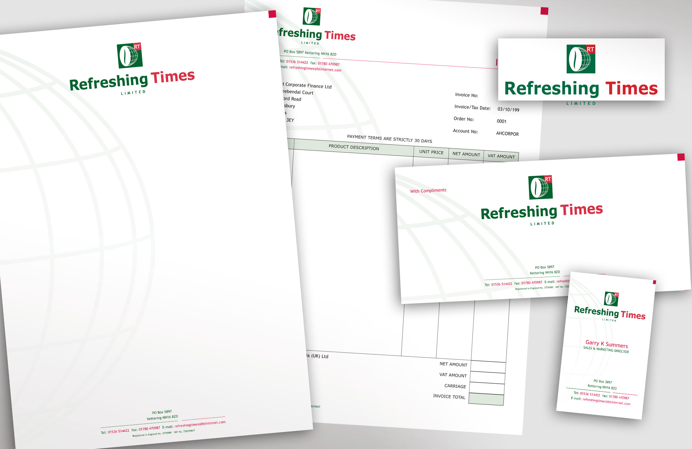 Refreshing Times Stationery Items