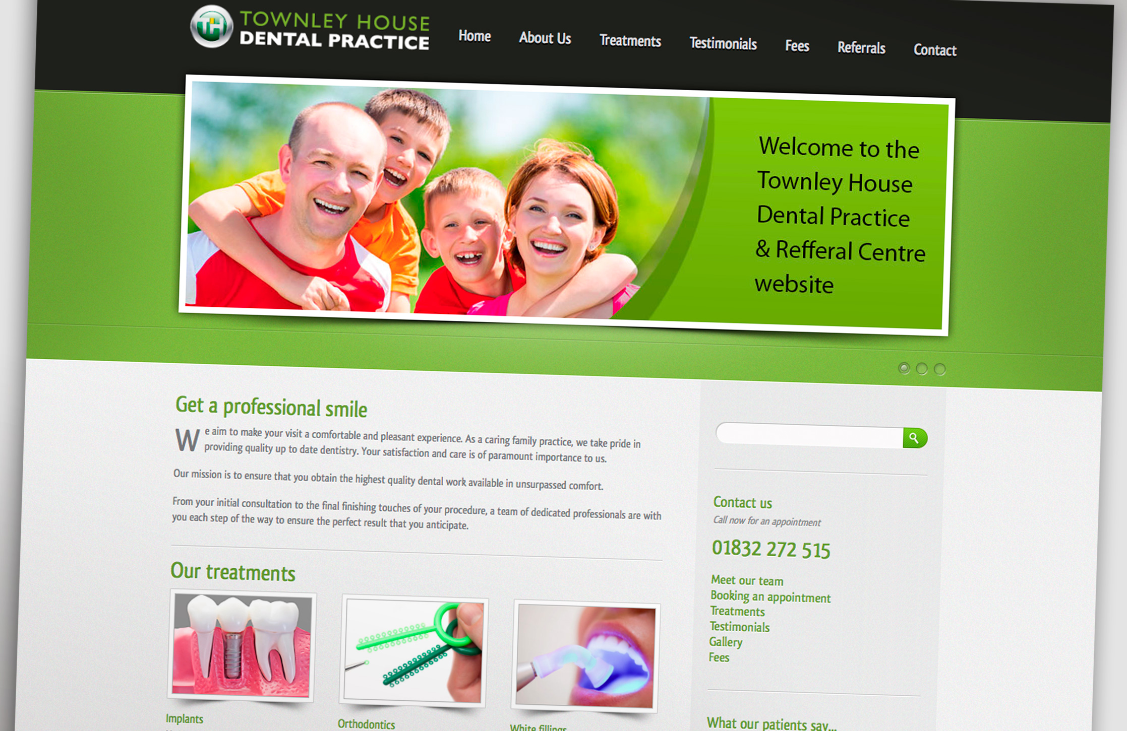 Townley House Dental Practice Website