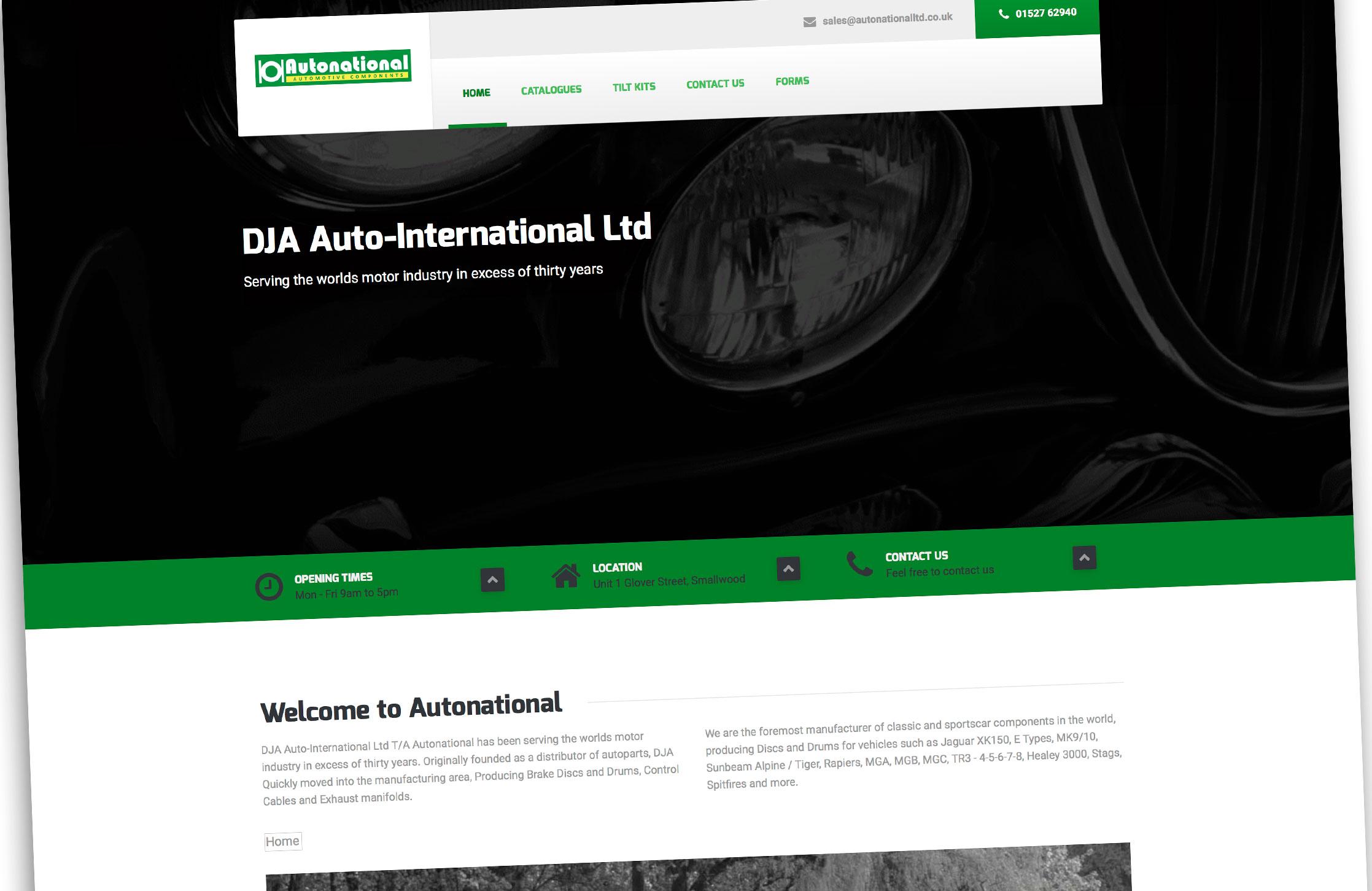 Autonational Motorparts Website