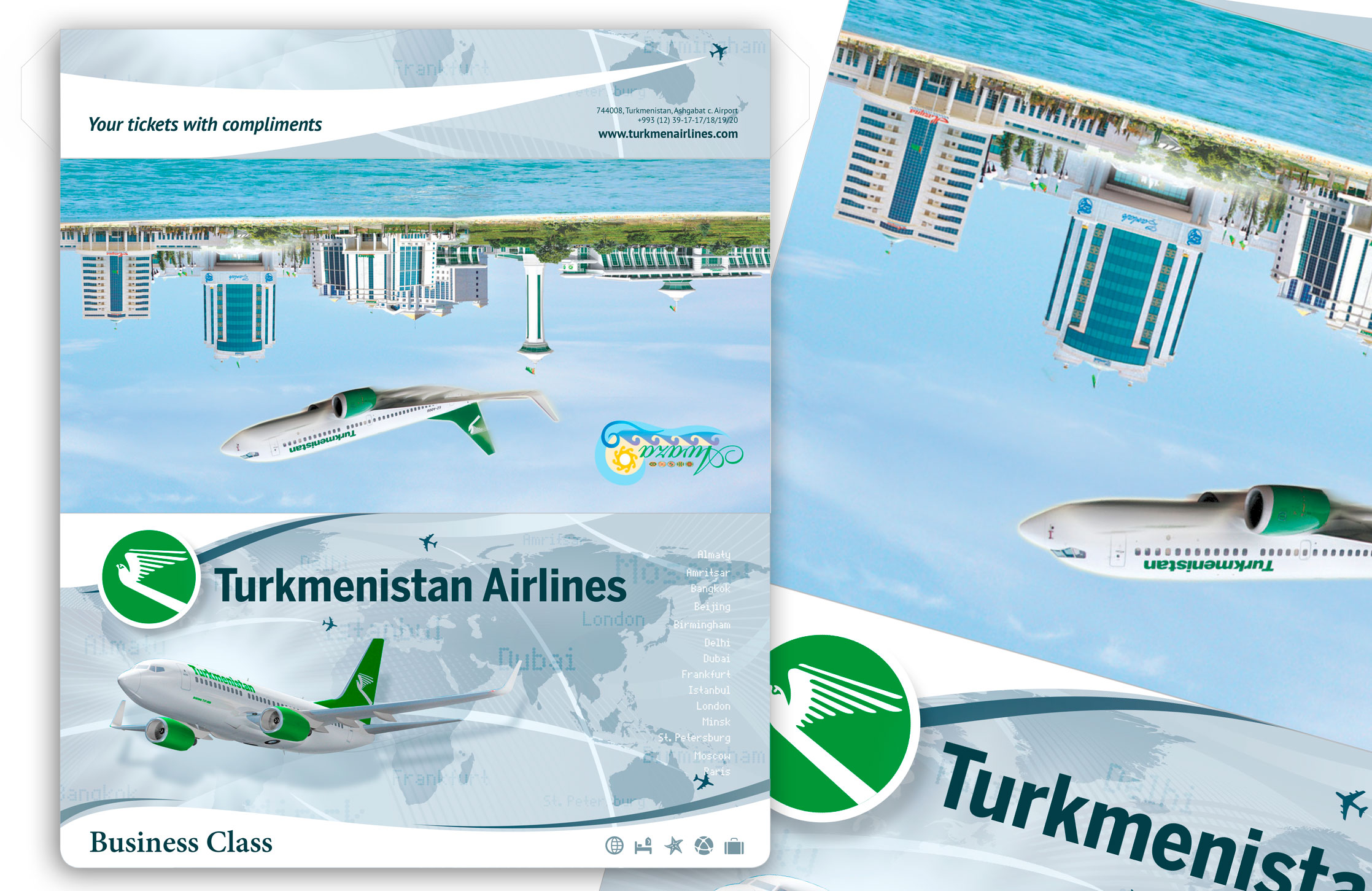 Turkmenistan Airlines Ticket Wallet