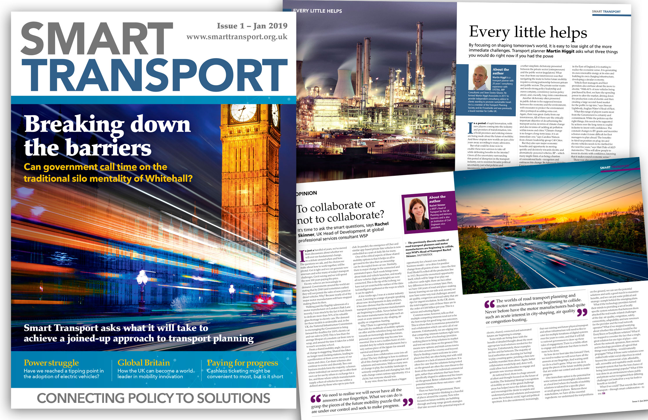 Design and artwork of new green transportation magazine for the fleet market