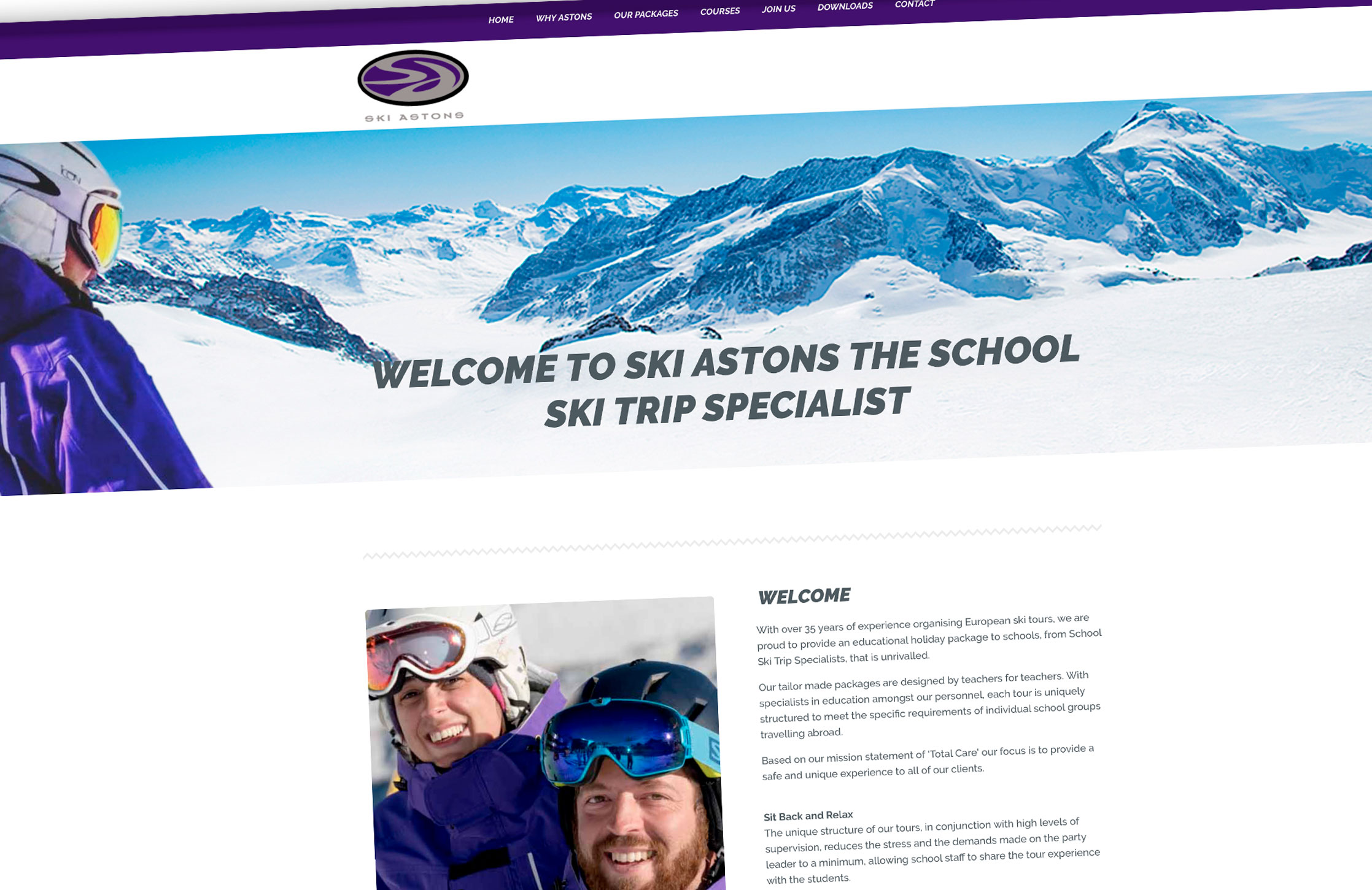 Skiastons website - the school ski trip specialist