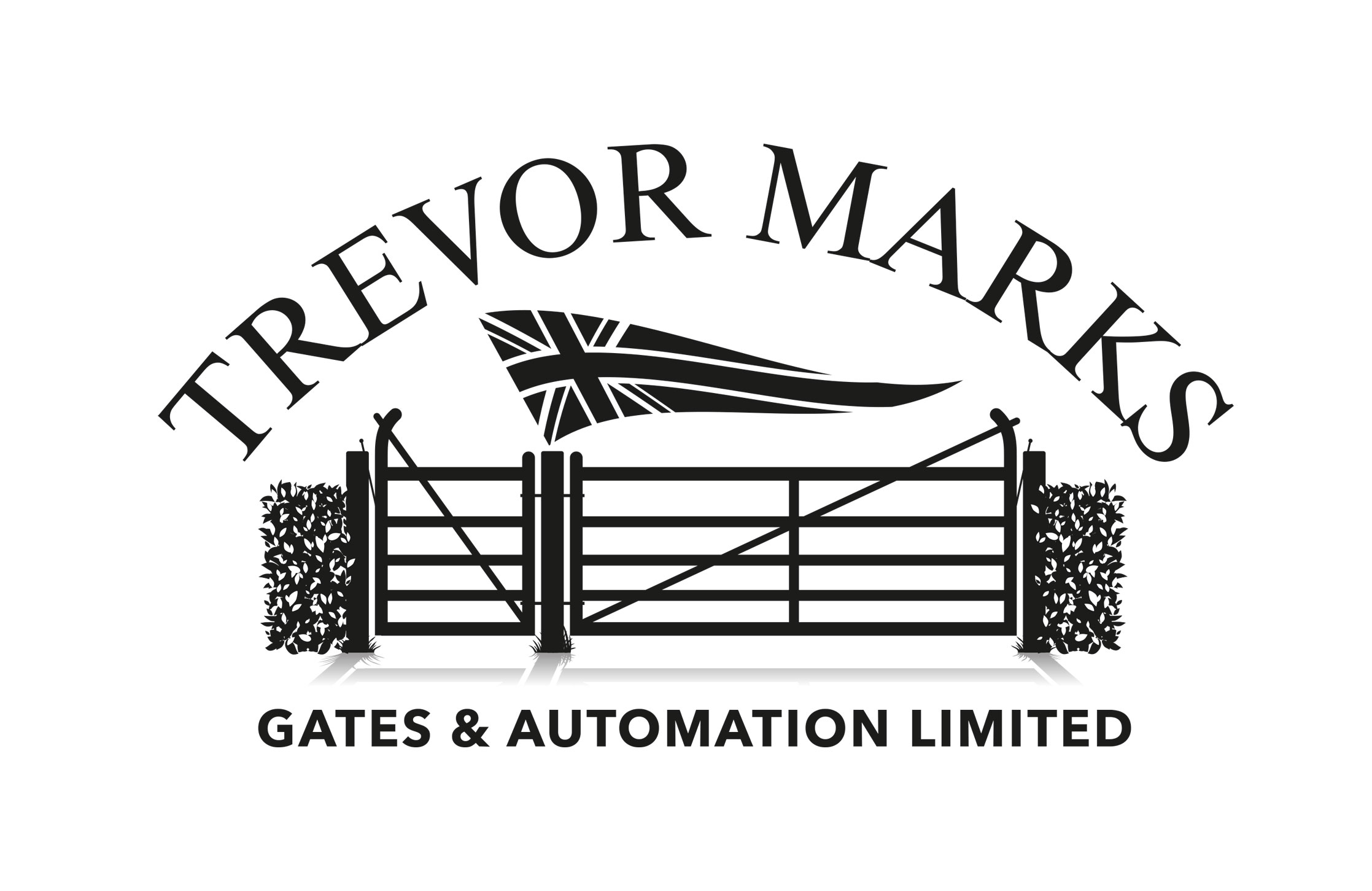 Trevor Marks bespoke gates and automation limited logo design