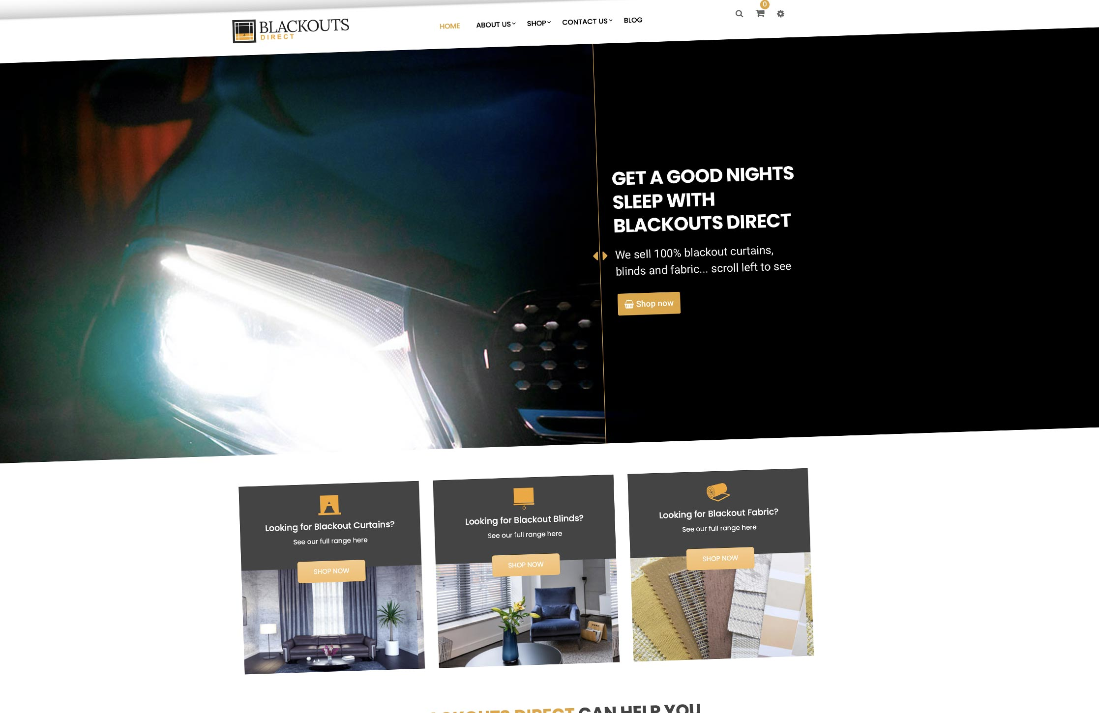 Blackouts Direct website design