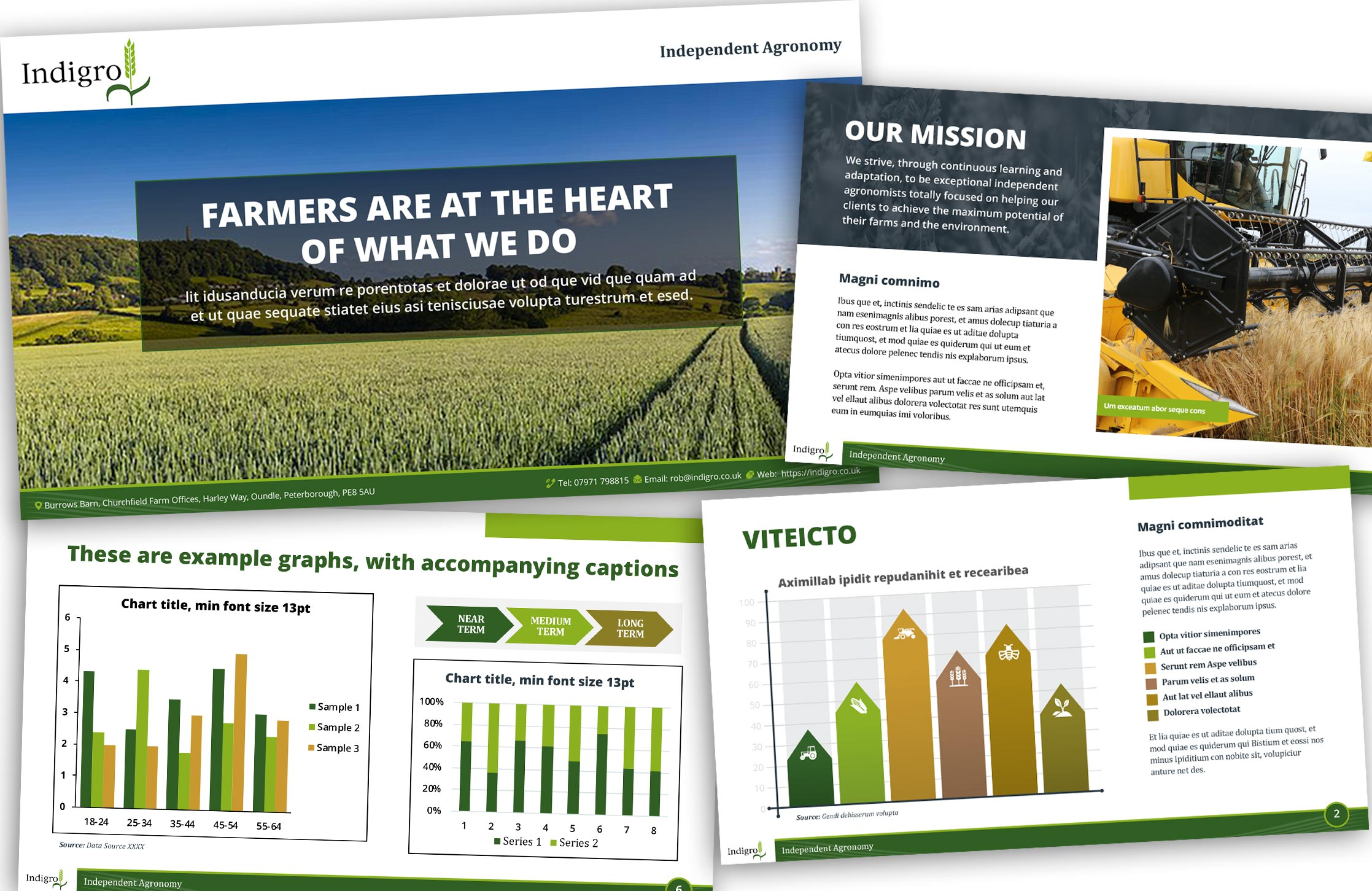 Indigro Independent Agronomy Powerpoint template design