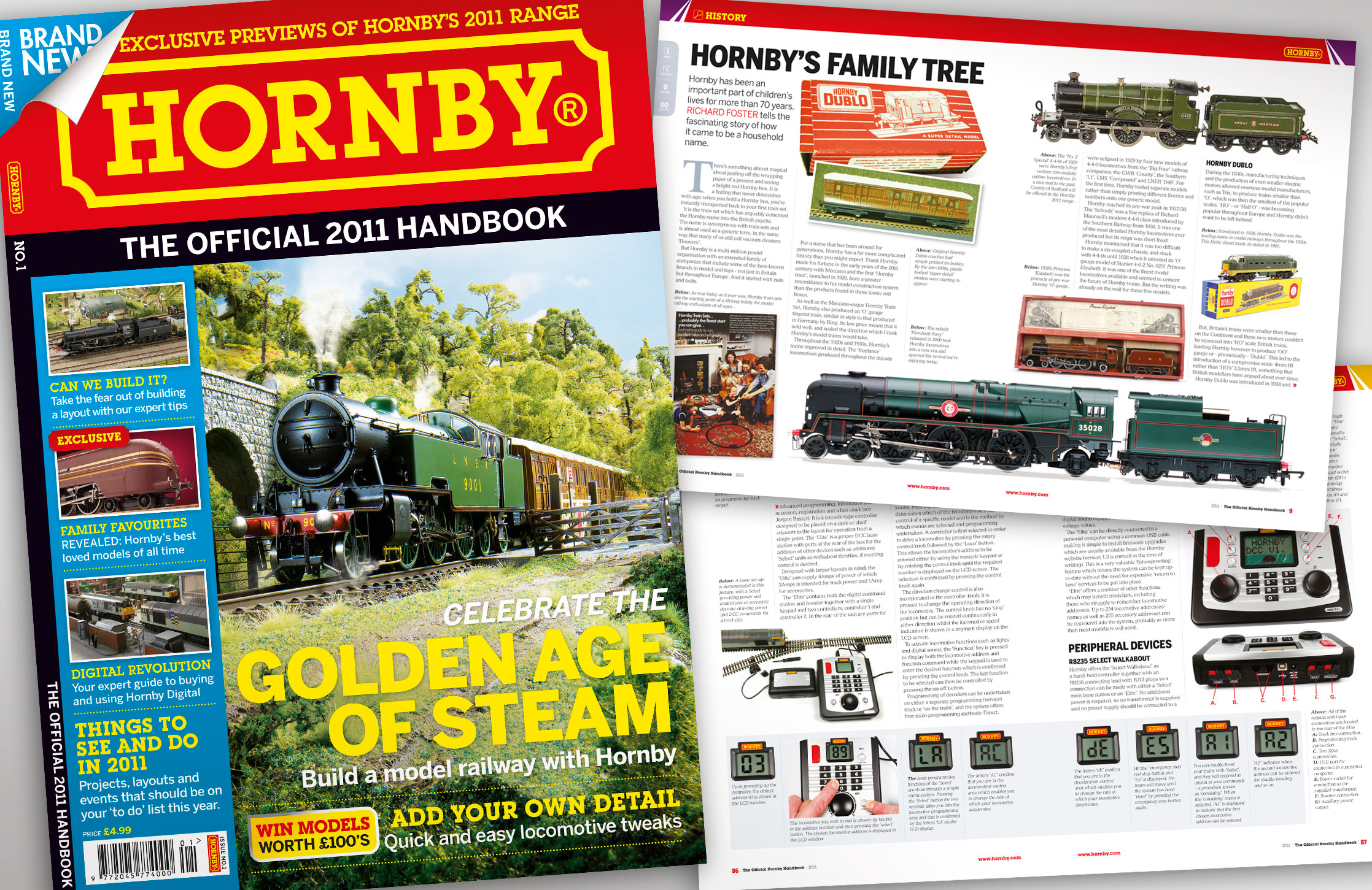 Design and artwork of a new style Hornby magazine for instore sales
