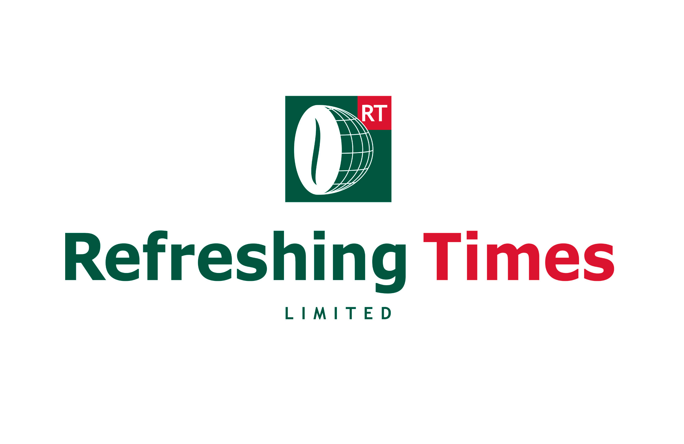 Design and artwork of corporate logo for Refreshing Times Ltd  for print and web application