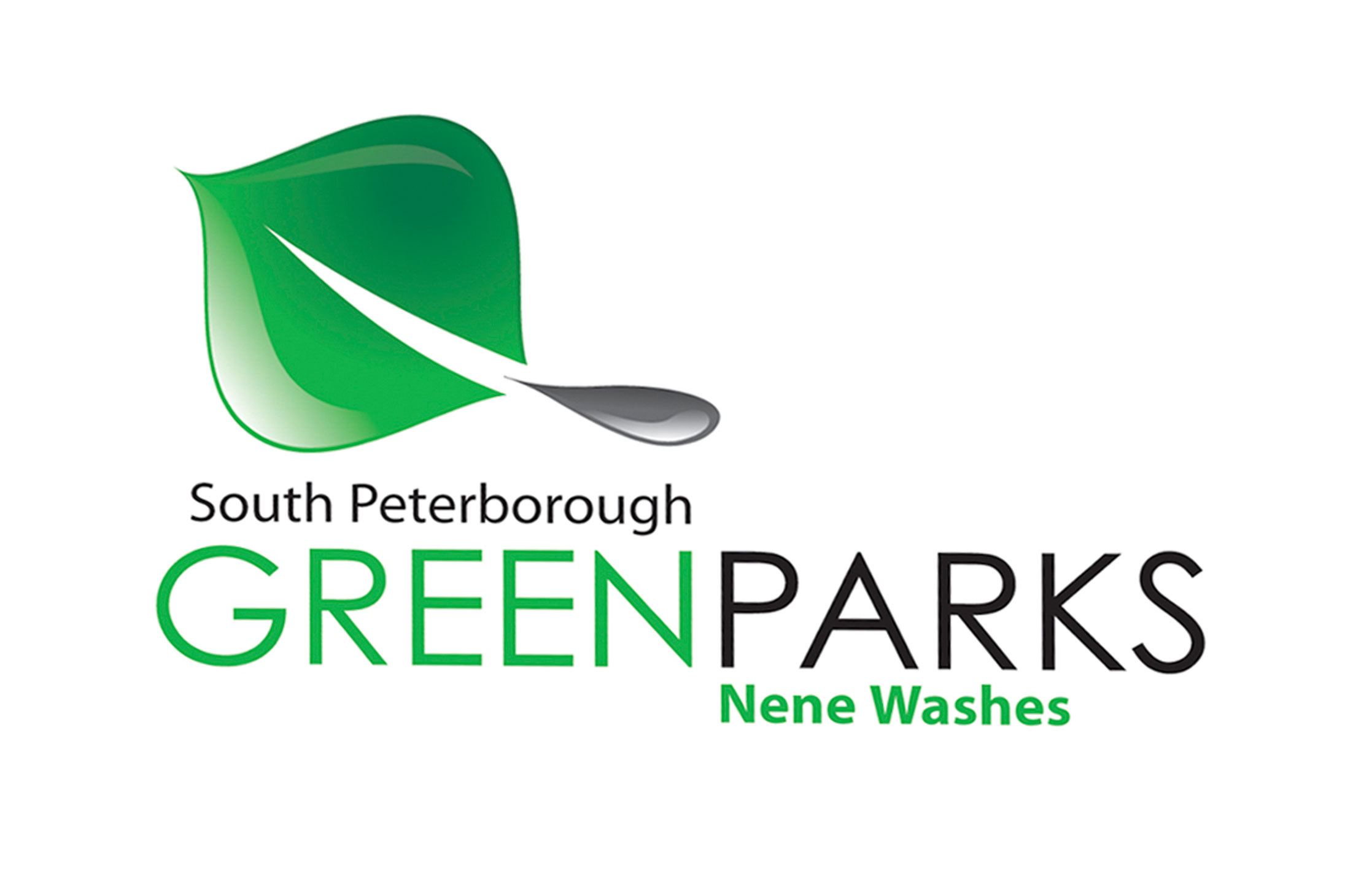 Design of proposed South Peterborough Green Parks logo