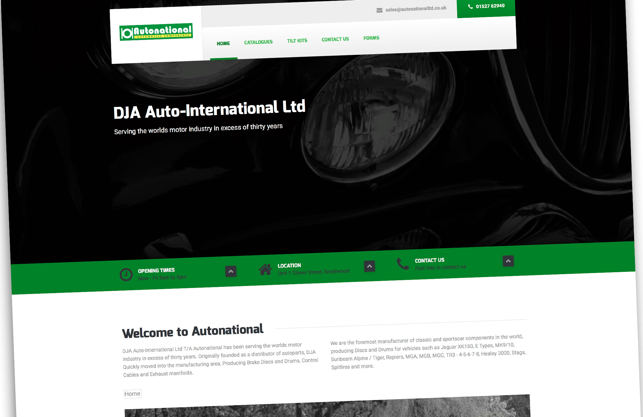 Design and population of a Wordpress Website for Autonational Limited