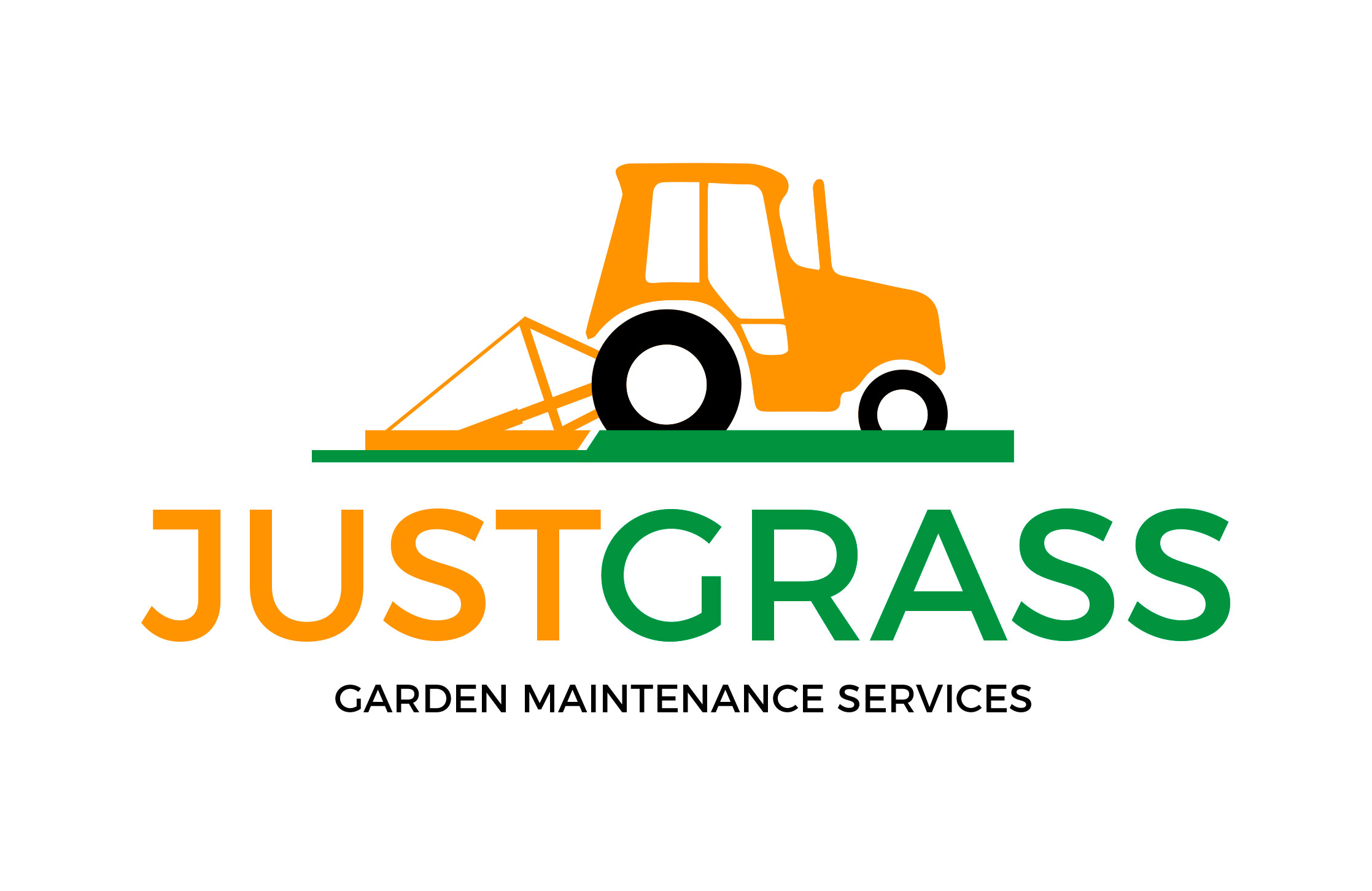 Design of corporate logo for embroidery and also general media use for Just Grass The Garden Maintenance Specialists.