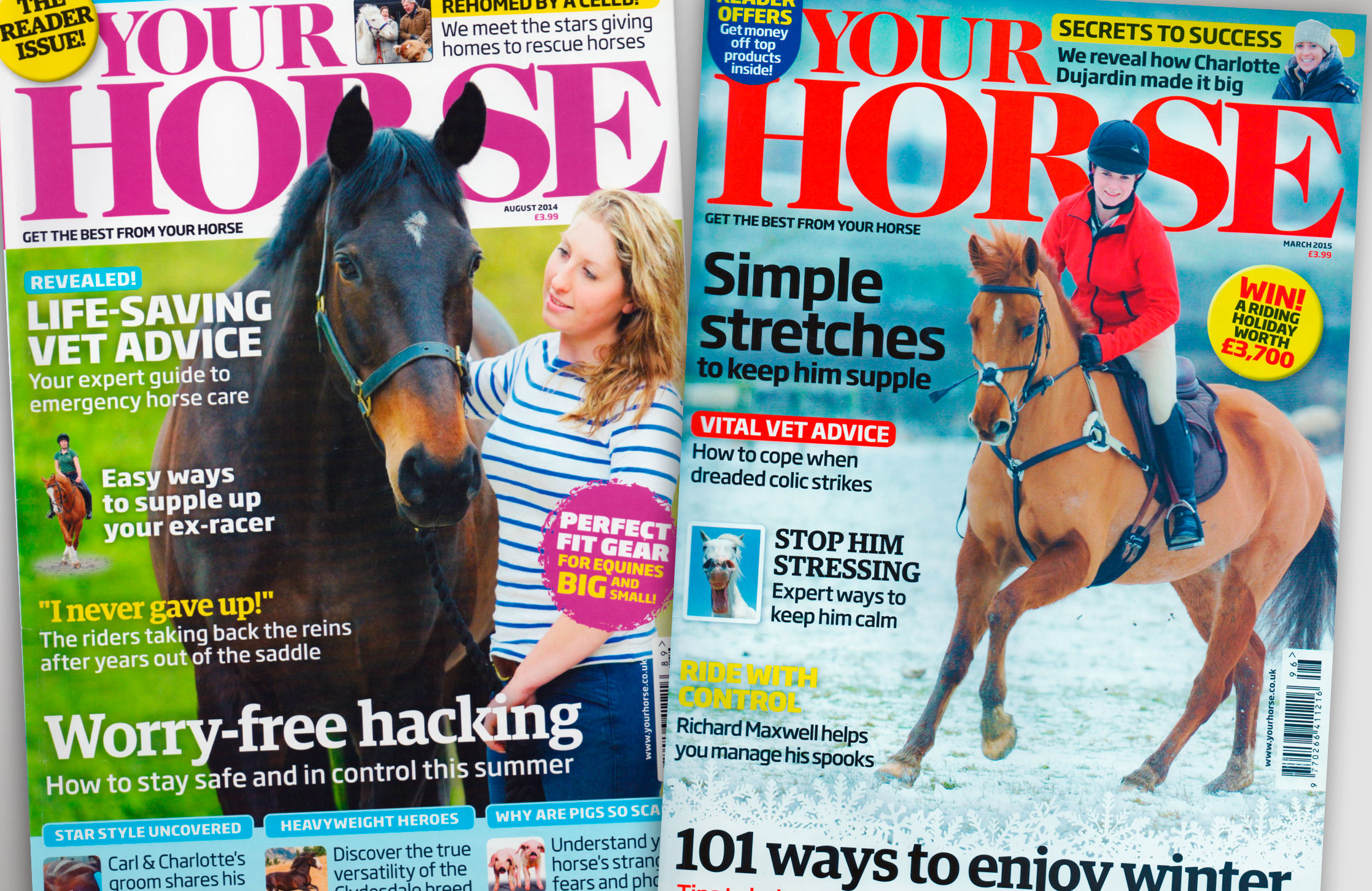 Your Horse Magazine editorial design and page layout and working in-house as Art Editor.
